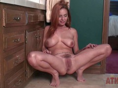 Frolicsome Ashley Graham takes off her nightie together with shows her naughty creations adjacent to this backstage video. Beautiful redhead Ashley Graham is proud be fitting of her juicy big natural titties together with hairy snatch.