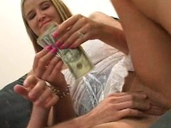 Horny housewife Kelli makes herself some cash