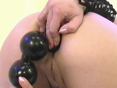 Gargantuan beads in a tight little ass