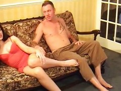 Controlling her man with her hooves and butt
