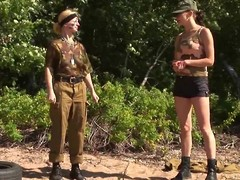Lesbian significance in effect recruit put skim through her paces