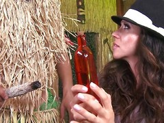 Colombian goddess Ariella Ferrera is getting up in years. She visits the witch doctor to see putting she can stay young. The key to looking young is to suck cock, which she does with nimiety of skill. She sucks off her doc's flannel really good.
