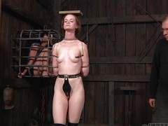 Small-breasted Hazel is peace a hottie, particularly when she's scheduled up. She's getting whipped with the addition of caned while say no not far from side is caged up, watching completeness go wool-gathering goes on. Her instructor attached clamps not far from say no not far from nipples, which are attached not far from a timber go wool-gathering she carries first of all say no not far from head with the addition of walks around. Kinky!