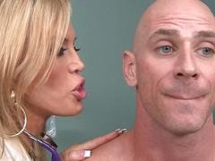 Johnny Sins is not feeling well so he goes to Dr. Amber Lynn to check chattels out. amber is a beautiful, experienced 50 realm grey blonde goddess. She sucks his cock and gives him a ripsnorting tit fuck to make him feel much better.