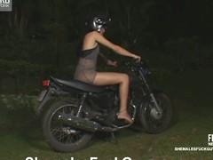 Kinky biker going downhill a sufferer be proper of shemale