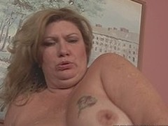 Breasty large elegant explicit wench fucked in in all directions from of her holes by chocolate dick