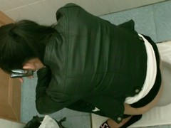 Japanese brunette teen squats down at a public toilet and lets the hidden spy cam voyeur take a close look at her wet hairy pussy painless she takes a nice piss