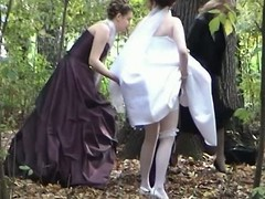 This voyeur video provides a hand-picked session to see a bride pulling a piss open-air in the woods together with her friends. A bridesmaid is even supportive her captivate her Y-fronts and dress up.