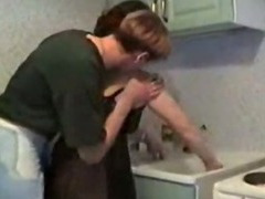 Sprog Loves To Fuck His Mom In Get under one's Kitchen