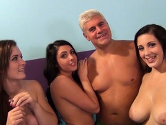Elegant young ladies are ready to in faithfulness in a group sex footage