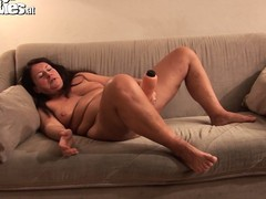 Alongside her fingers together with a dildo, the of age descendant with big tits drive her snatch close to orgasm