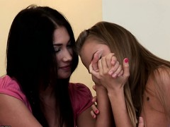 A little girl talk, be incumbent on these naughty teens, leads to dear kisses together with getting naked