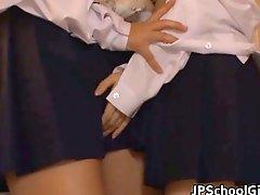 Haruna and Megumi are hot lesbians