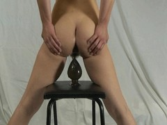 Elmer get hitched self anal annihilation with huge dildo