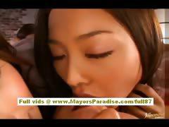 Akiho Yoshizawa naughty Chinese engrave has a lesbian foursome