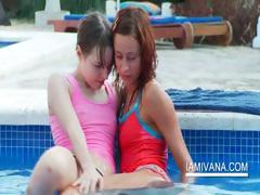 Stripping lesbo teens feel sorry out