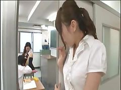Japanese student gives the teacher some TLC for a good grade