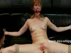 Lezdom babe spanking say no to slave