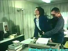 Classic German scene be incumbent on place secretary having anal sex