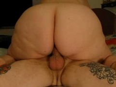 Nice bbw booty gets a ride