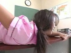 Horny latina teen getting fucked hard for grades