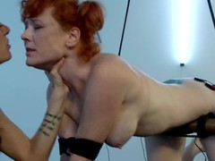 Redhead Audrey Hollander gets her arse hungry with vibrations