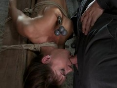 Gia Dimarco is tied up beyond eradicate affect bar upside down