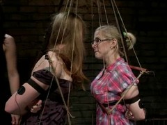 Two romp blondes get toyed and tortured here electricity