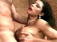 Busty brunette chick wants that majuscule cock