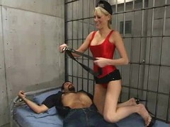 Kirmess hottie Audrey Leigh punishes and fucks Ricosf connected with a jail