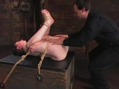 Tied up Lady Kat gets imperceivable close by hot elongate and toyed
