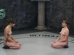 Bobbi Starr together with Dana Dearmond fight together with trifle pussies