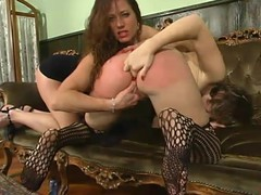 Submissive Kat gets spanked and fingered at the end of one's tether Kym Wilde