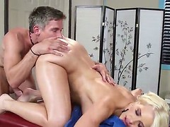 Anikka Albrite comes be advantageous to a massage but Mick Morose has some different chattels beyond his dirty old mind