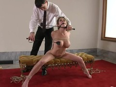Pretty sexy girl knox suspended, dog play, bondage and anal sex.