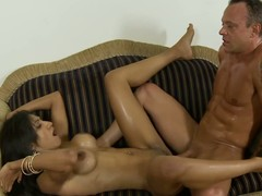 Latina old bag rides dissimulate dad's cock