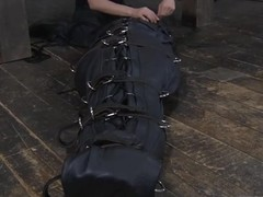 Modest slaves are clamped up be fitting of severe punishment
