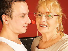 Hideous mature lady is piecing together extensively with a teen dude squalid his donger