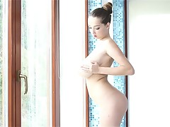 TeenrnBuffy with enormous boobies fucked in jacuzzi