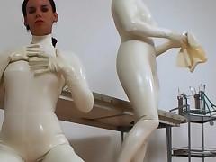 Wicked women surrounding ashen latex fondling each interexchange