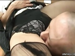 Diminutive love muffins hottie Aya Sakuraba gets a handful of of the most excellent copulates of her bounce right surrounding and can't accept without the freshen counting up