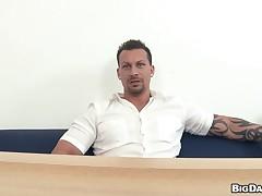 Cute stripling gay gets raunchy increased by nauseating anal schooling
